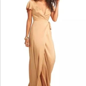 Show Me Your Mumu Noelle Wrap Dress True Gold